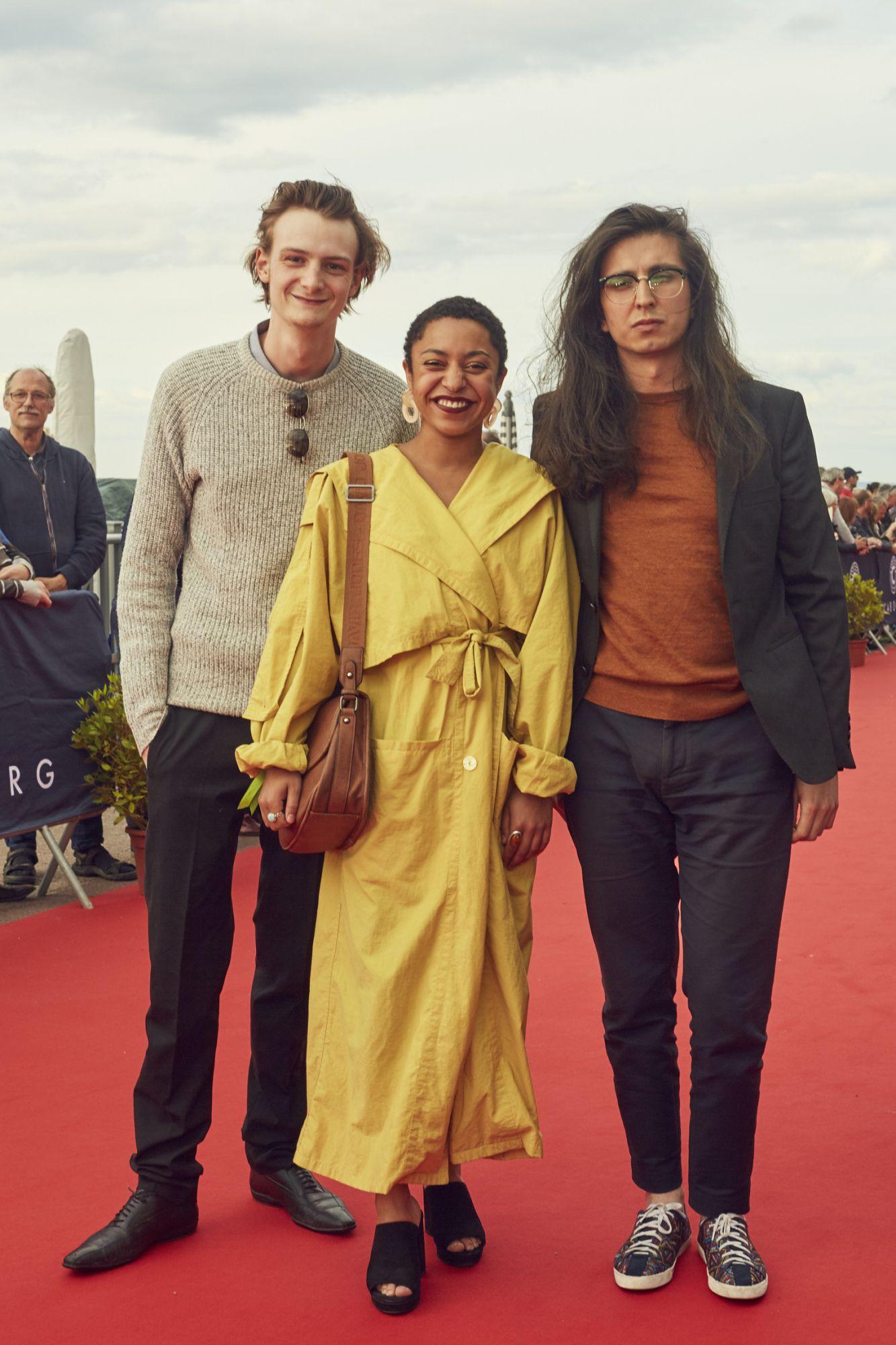 Félix Vannorenberghe (acteur), Mélissa Diarra (actrice) et Sergio Guataquira Sarmiento (réalisateur)  Maquillage : Dr. Hauschka Coiffure : Franck Provost
